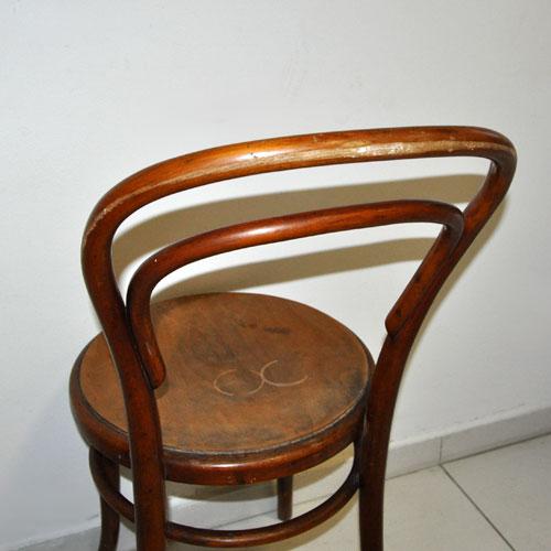 Antica sedia seggiola mundus vienna faggio curvato stile for Sedia antica thonet