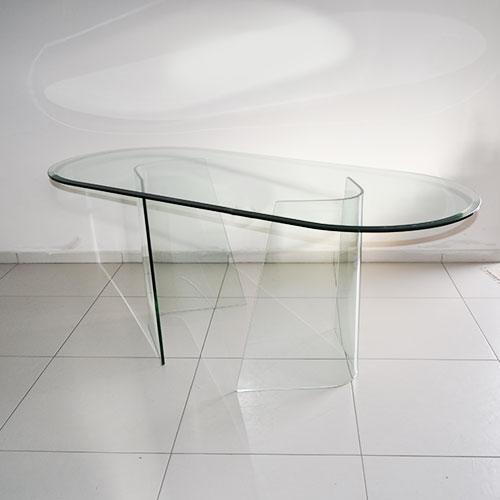 Tavolo fiam ovale in vetro - Tavolo vetro ovale ...