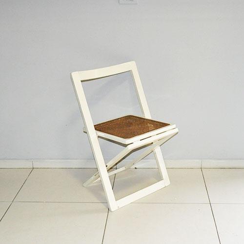 Sedia design pieghevole seduta paglia di vienna anni 39 60 for Sedia design paglia di vienna